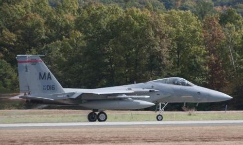 <h4>F-15C Eagle<br>Massachusetts Air National Guard</h4>