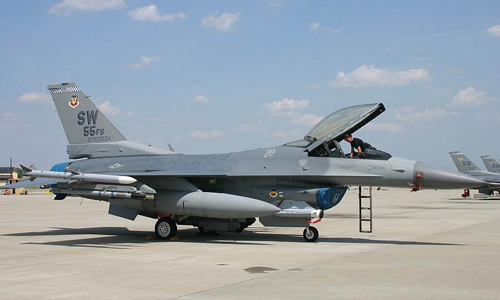 <h4>F-16 Fighting Falcon<br>U.S. Air Force</h4>